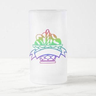 EASTER BASKET FROSTED GLASS BEER MUG