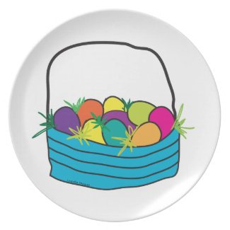 Easter Basket Party Plates