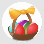 Easter Basket Round Stickers