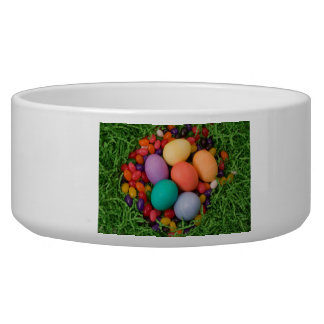Easter Basket - Spring Colored Eggs Jelly Beans Bowl