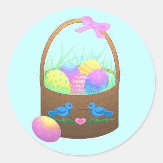 Easter Basket Stickers/Envelope Seals Classic Round Sticker