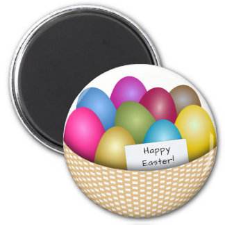 Easter Basket with Colorful Eggs Magnet