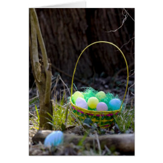 Easter Basket with Eggs Card