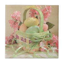 Easter Basket with Eggs Tile