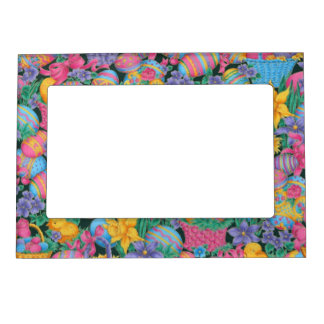 Easter Baskets and Eggs Magnetic Photo Frame