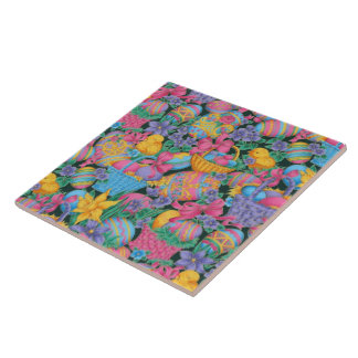 Easter Baskets and Eggs Tile