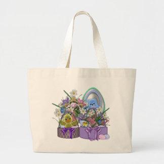 Easter Baskets Large Tote Bag