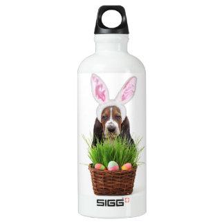 Easter Basset hound Aluminum Water Bottle