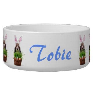 Easter Basset Hound dog Bowl
