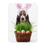 Easter Basset Hound dog Rectangular Photo Magnet