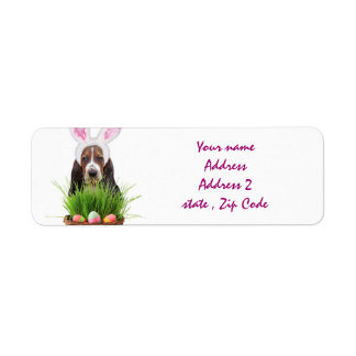 Easter Basset Hound Return Address Labels