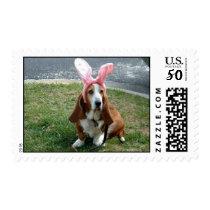 Easter basset stamp