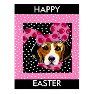 Easter Beagle Postcard