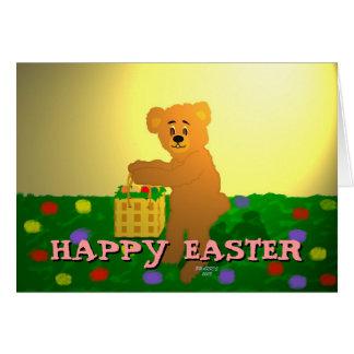 Easter Bear in Sunshine Easter Card