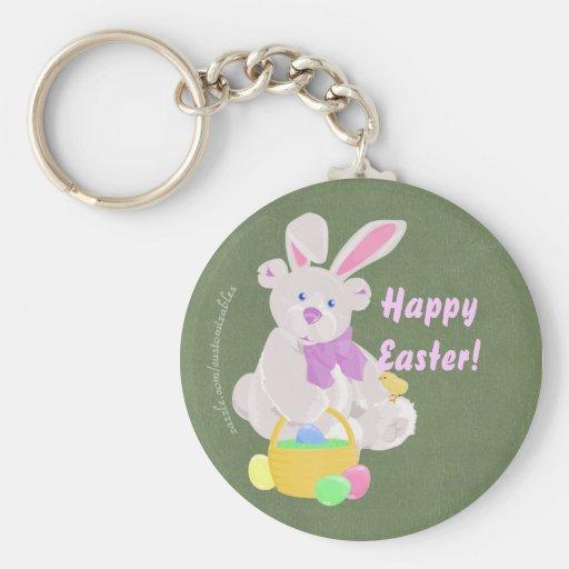 Easter Bear Keychain
