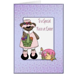 Easter Bear Niece Card