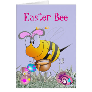 Easter Bee Greeting Card
