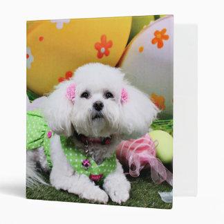 Easter - Bichon Frise - Mia Vinyl Binders