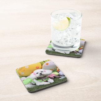 Easter - Bichon Frise - Mia Beverage Coaster