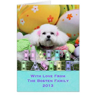 Easter - Bichon Frise - Mia Greeting Card
