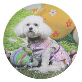 Easter - Bichon Frise - Mia Plate
