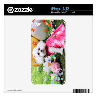Easter - Bichon Frise - Mia iPhone 4S Decal