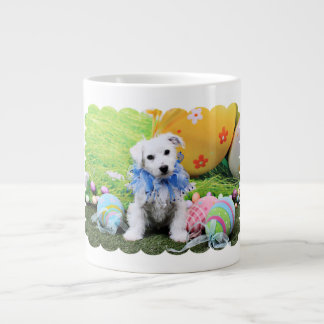 Easter - Bichon Frise X - Sammy 20 Oz Large Ceramic Coffee Mug