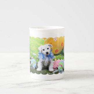 Easter - Bichon Frise X - Sammy Tea Cup