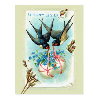 Easter birds post cards