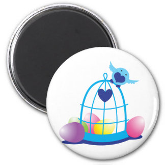 easter birdy 2 inch round magnet
