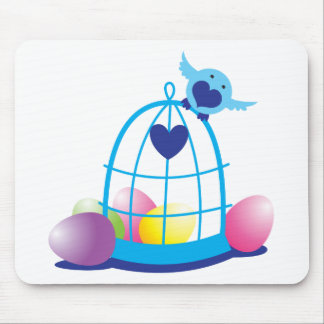 easter birdy mouse pad