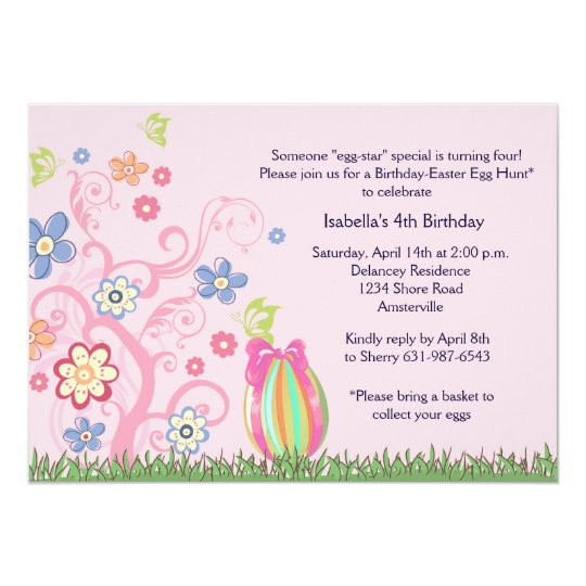 Easter birthday party invitation zazzle easter birthday party invitation filmwisefo