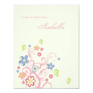 Easter Birthday Personalized Thank You Notecard