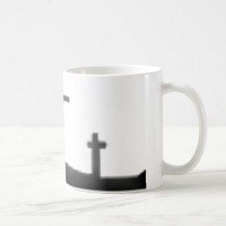 Easter black and white crosses coffee mug