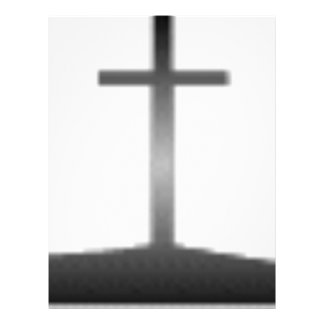 Easter black and white crosses letterhead