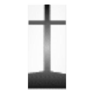 Easter black and white crosses rack card