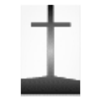 Easter black and white crosses stationery