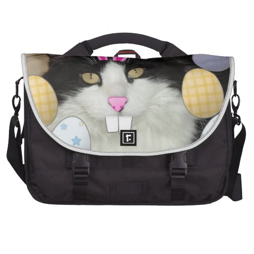 Easter Black and White Kitty Cat Bags For Laptop