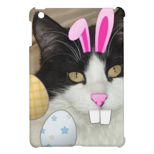 Easter Black and White Kitty Cat iPad Mini Cases