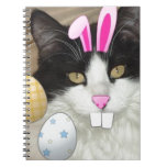 Easter Black and White Kitty Cat Journals