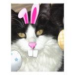 Easter Black and White Kitty Cat Letterhead