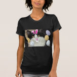 Easter Black and White Kitty Cat T-Shirt