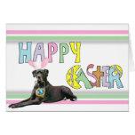 Easter Black Great Dane Cards