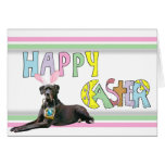 Easter Black Great Dane Stationery Note Card