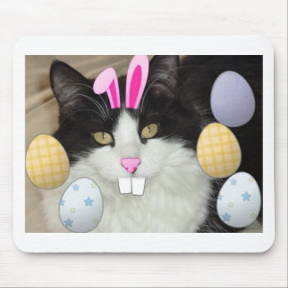 Easter Black & White Cat Mouse Pad