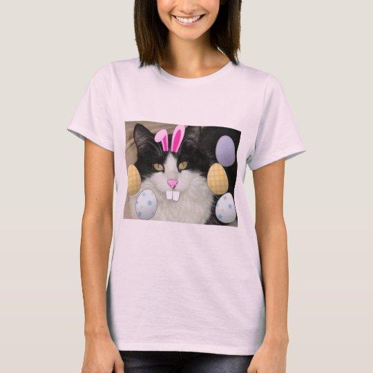 Easter Black & White Cat T-Shirt