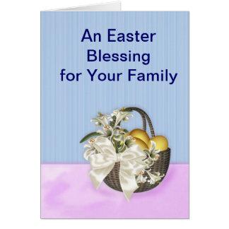 Easter Blessing for Family Card
