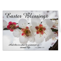 Easter Blessings 1 John 2:25 Bible Verse Card