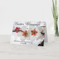Easter Blessings 1 John 2:25 Bible Verse Holiday Card