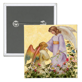 Easter Blessings Angel Button